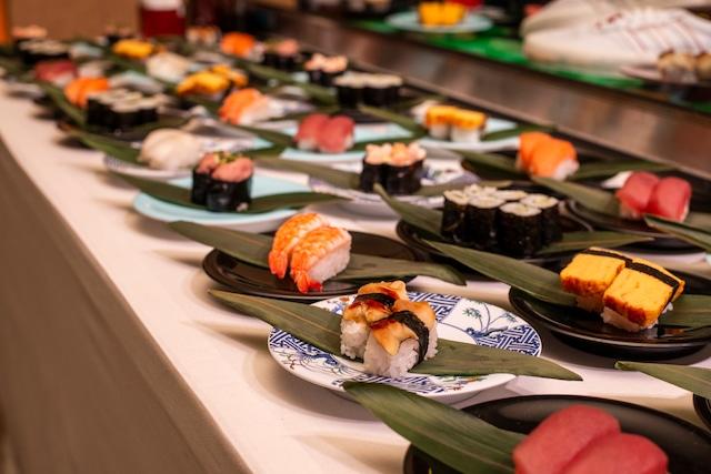パーティで振舞われた寿司。