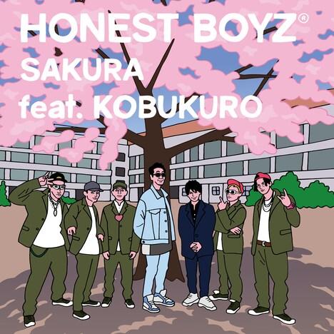 HONEST BOYZ「SAKURA feat. KOBUKURO」ジャケット
