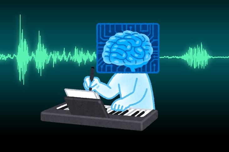 """AI作曲家""イメージイラスト"