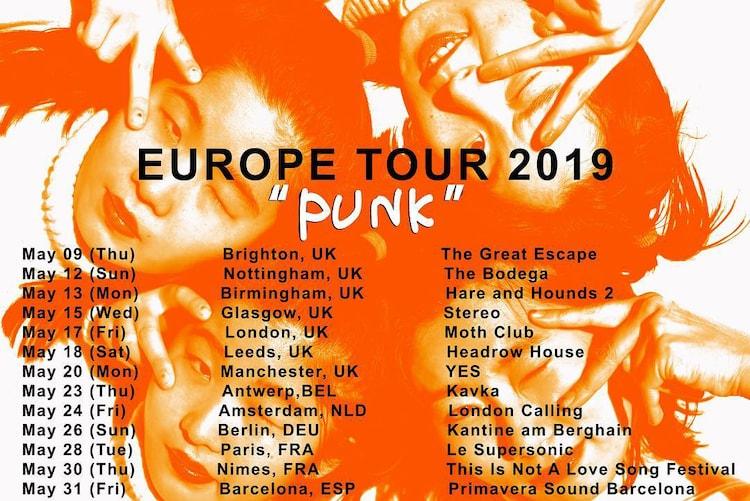 """「CHAI ワールドツアー""""PUNK""""全英およびヨーロッパツアーのビジュアル。"""