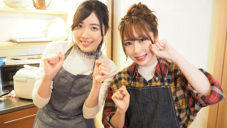 左から松井珠理奈、高柳明音。(c)テレビ朝日