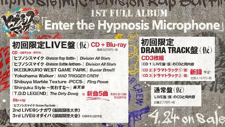 ヒプノシスマイク-Division Rap Battle-「Enter the Hypnosis Microphone」告知ビジュアル