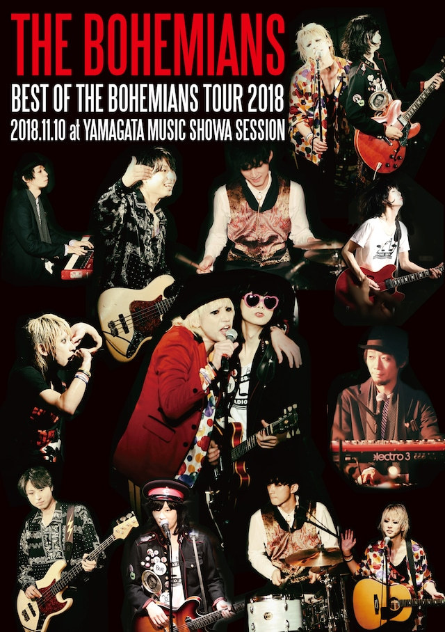 THE BOHEMIANS「BEST OF THE BOHEMIANS TOUR 2018 2018.11.10 at YAMAGATA MUSIC SHOWA SESSION」ジャケット