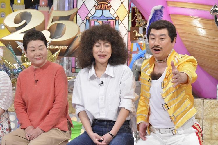 左から東郷かおる子、椿鬼奴、レイザーラモンRG。 (c)読売テレビ