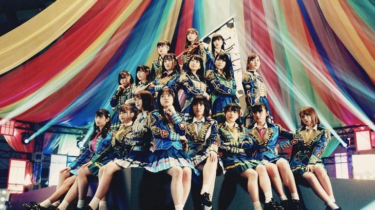 HKT48「意志」ミュージックビデオのワンシーン。