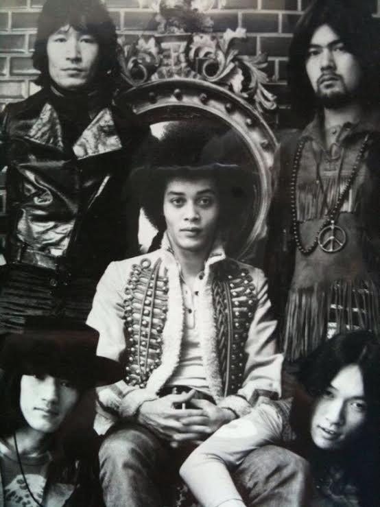 内田裕也(左上)とフラワー・トラベリン・バンド(提供:内田裕也オフィス)
