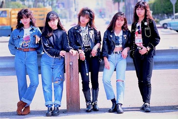 1989年(平成元年)当時のプリンセス プリンセス。(提供:SME Records)