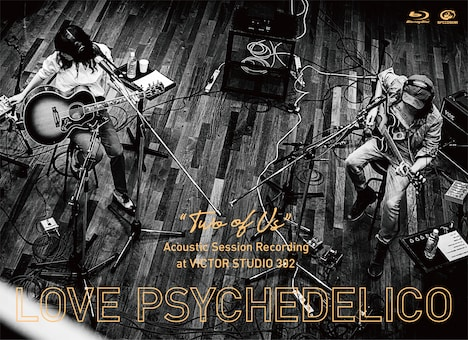 "LOVE PSYCHEDELICO「""TWO OF US"" Acoustic Session Recording at VICTOR STUDIO 302」Blu-rayジャケット"
