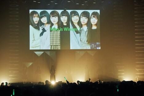 ステージに立つ7人のファイナリスト。(撮影:草場雄介)