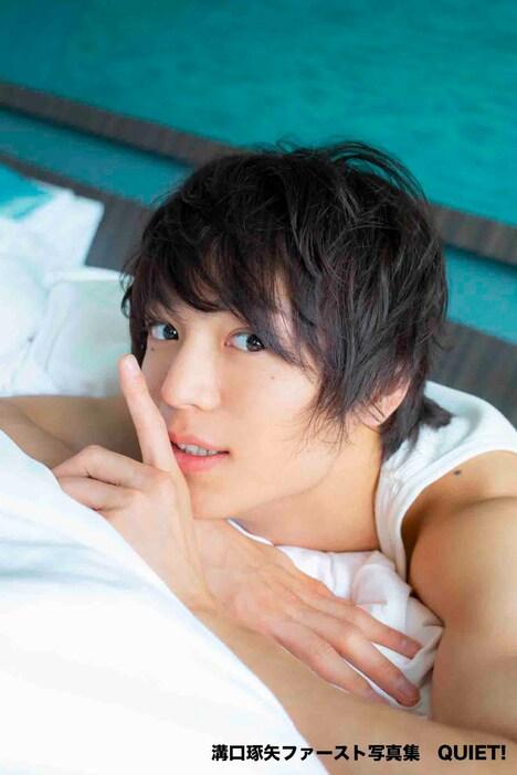 溝口琢矢1st写真集「QUIET!」より。(撮影:近藤宏一)