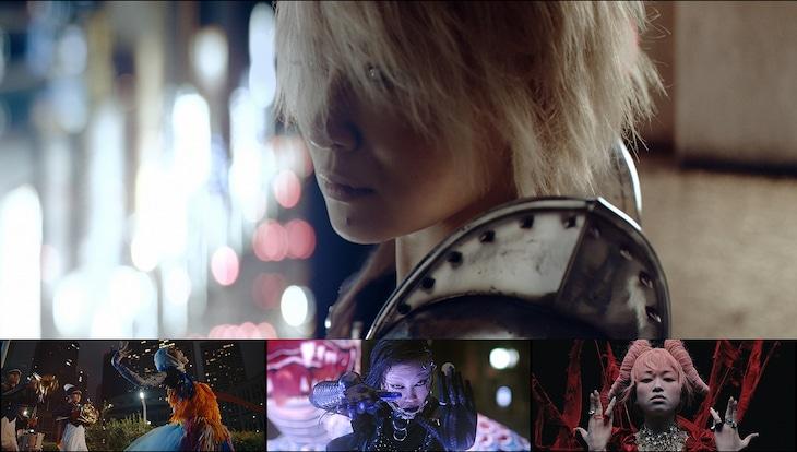 椎名林檎「鶏と蛇と豚」ミュージックビデオのシーン。