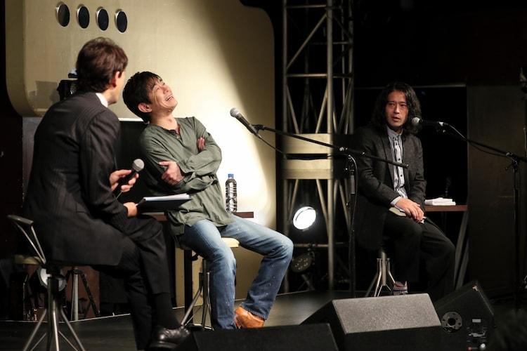 宮沢和史「留まらざること 川の如く」発売記念朗読会&トークイベントの様子。