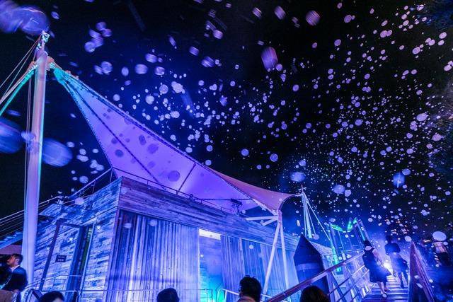 5月27日に東京都内で行われた「海の上映会」の様子。(写真提供:ソニー・ミュージックレーベルズ)