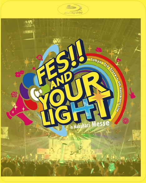 Tokyo 7th シスターズ「t7s 4th Anniversary Live -FES!! AND YOUR LIGHT- in Makuhari Messe」Blu-ray初回限定盤ジャケット