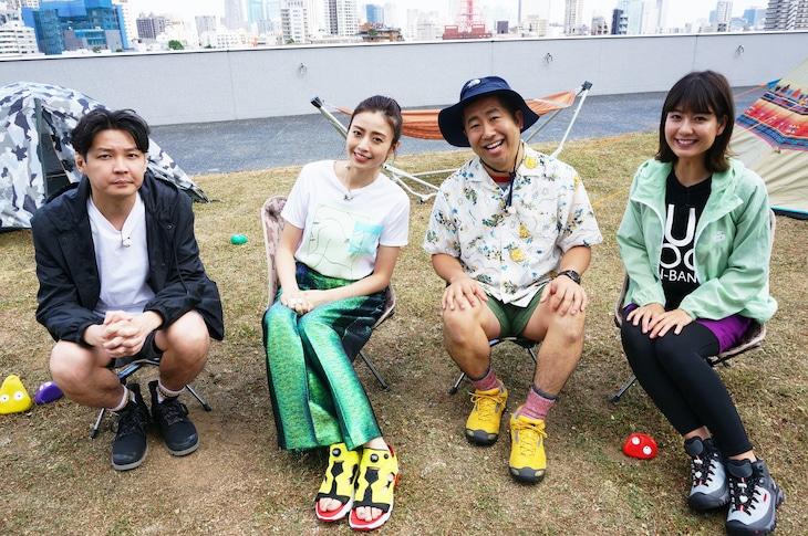 左から吉田大吾、 片瀬那奈、澤部佑、桝田沙也香。