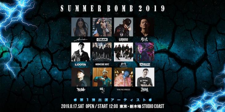 「SUMMER BOMB 2019」第1弾出演者