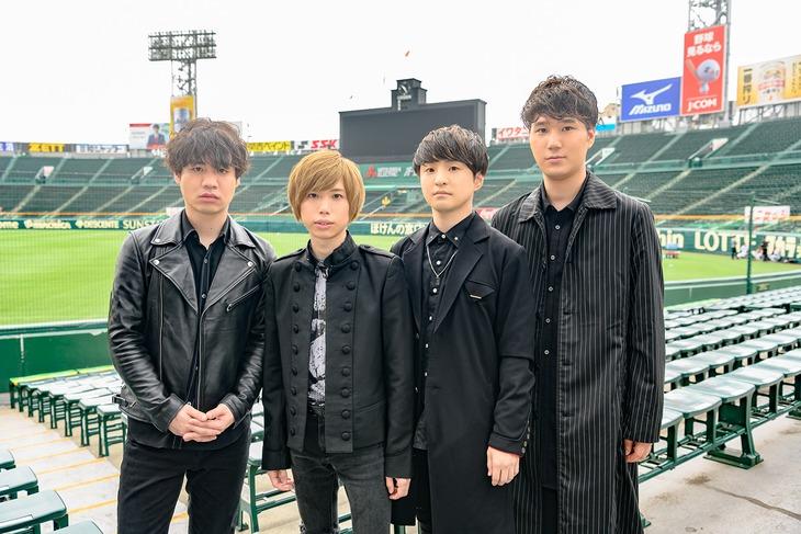 阪神甲子園球場を訪れたOfficial髭男dism。(写真提供:ABCテレビ)