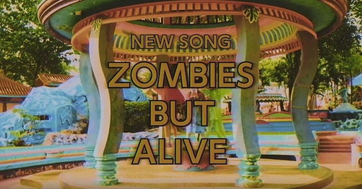 LITTLE ZOMBIES「ZOMBIES BUT ALIVE」ミュージックビデオのワンシーン。