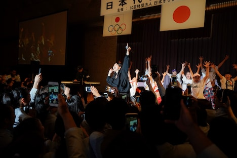 AI「第30回ユニバーシアード競技大会」日本代表選手団の結団式の様子。(撮影:上飯坂一)