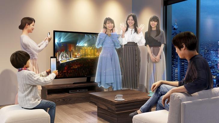 「THE MUSIC DAY AR」に登場する乃木坂46のイメージ。(c)日本テレビ