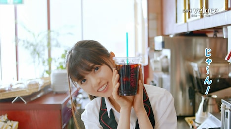 動画「アイスコーヒー篇」のワンシーン。