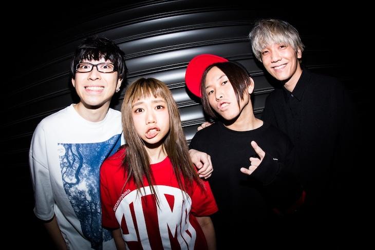 MOSHIMO(写真左端が本多響平、右端が宮原颯)