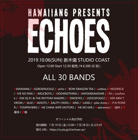 「HAWAIIAN6 presents ECHOES 2019」告知画像