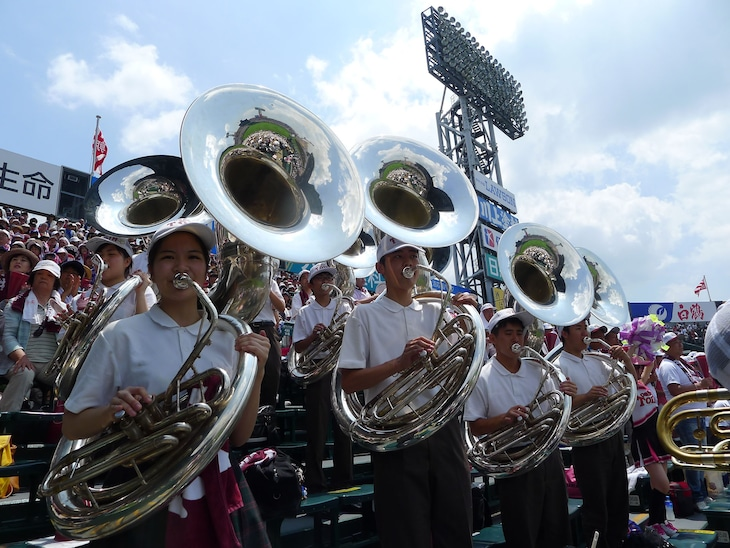 大阪桐蔭のブラスバンド。