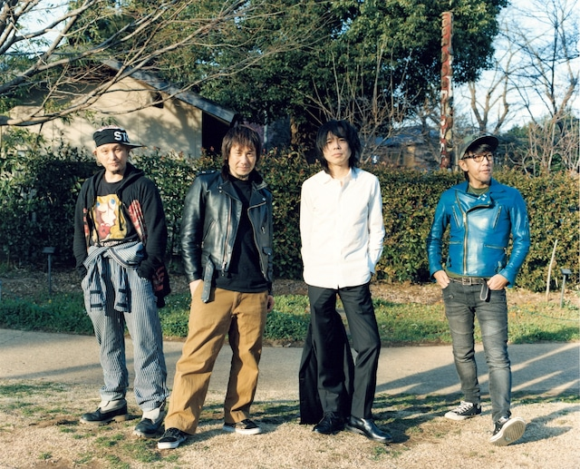 左からJah-Rah、横山健、宮本浩次、Jun Gray。(撮影:佐内正史)