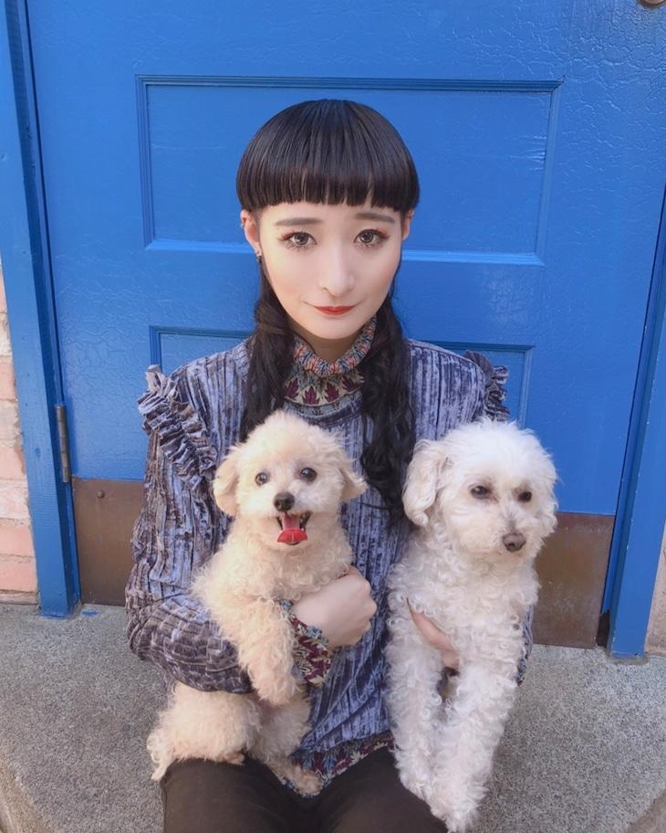 リンリン(BiSH)× 愛犬のじょこびっち、がたらっと