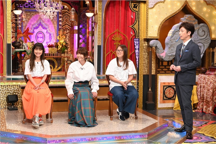 左から大塚愛、真木よう子、森田真帆氏、後藤輝基。(c)日本テレビ