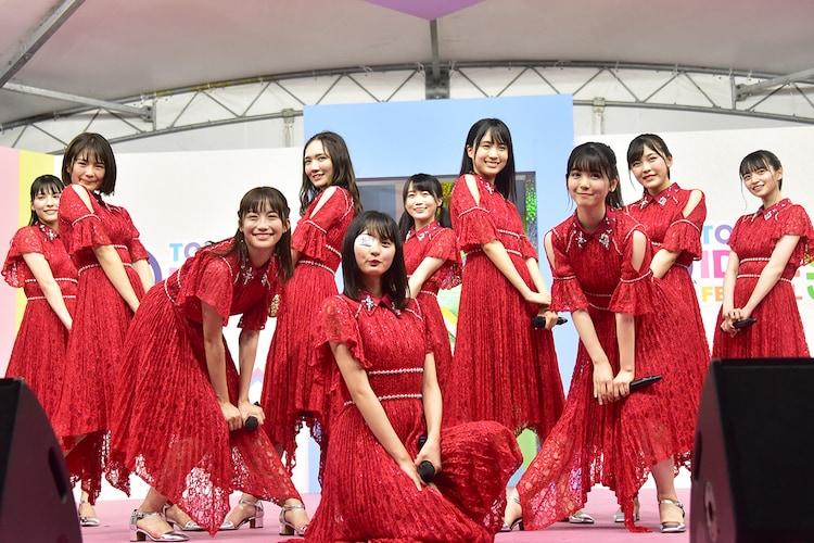 「TOKYO IDOL FESTIVAL 2019」出演時の乃木坂46の4期生。