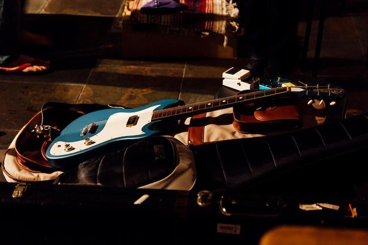 この日の公演で河西洋介が使用したギター。(Photo by Satsuki Kato)