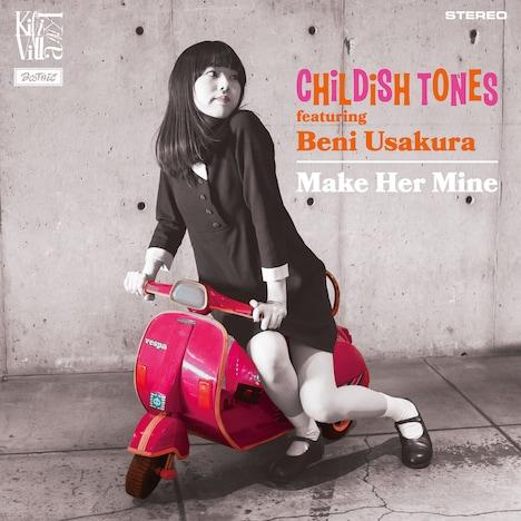 CHILDISH TONES feat.宇佐蔵べに「Make Her Mine」ジャケット