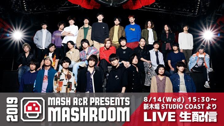 「MASH A&R presents MASHROOM 2019」配信告知ビジュアル