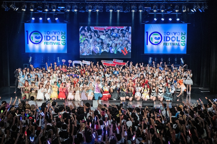 「TOKYO IDOL FESTIVAL 2019」グランドフィナーレの様子。