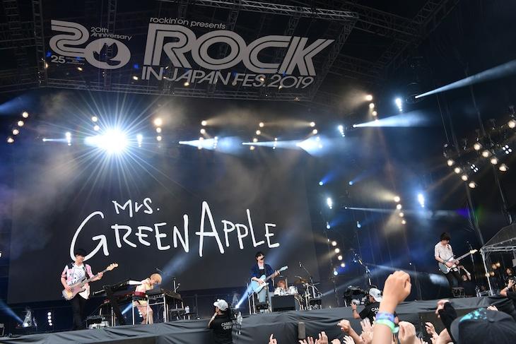 Mrs. GREEN APPLE(写真提供:ROCK IN JAPAN FESTIVAL 2019)