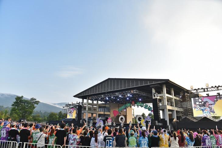 私立恵比寿中学「エビ中 夏のファミリー遠足 略してファミえん令和元年in山中湖」の様子。