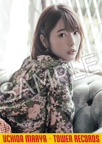 内田真礼×タワーレコードコラボポスター。