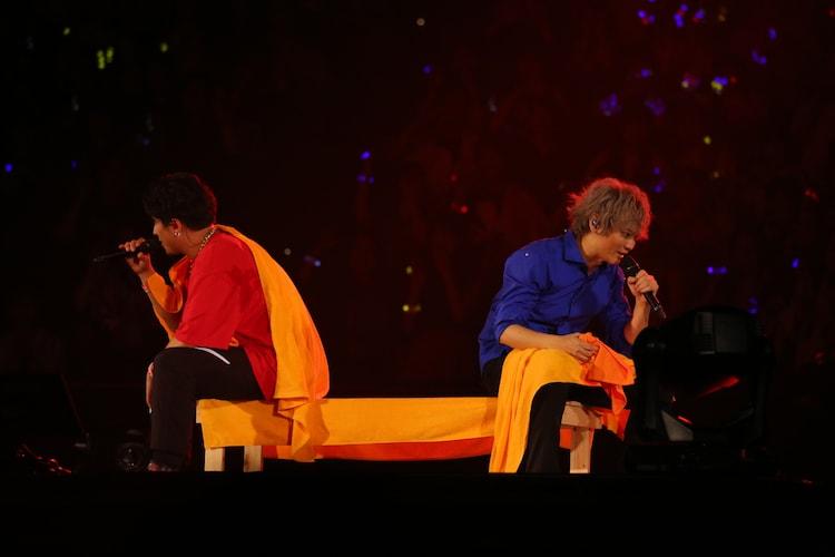 左から山田一郎を演じる木村昴、碧棺左馬刻を演じる浅沼晋太郎。(撮影:田浦ボン、キシノユイ、渡辺慎一)