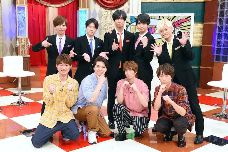 テレビ東京系「ABChanZOO」より。上段がA.B.C-Z、下段がふぉ~ゆ~。(c)テレビ東京