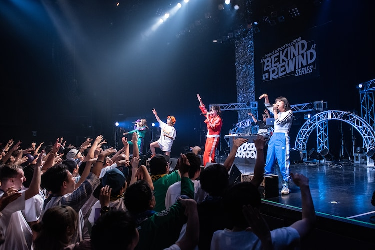 "「lyrical school oneman live ""BE KIND REWIND"" at AKASAKA BLITZ」の様子。"