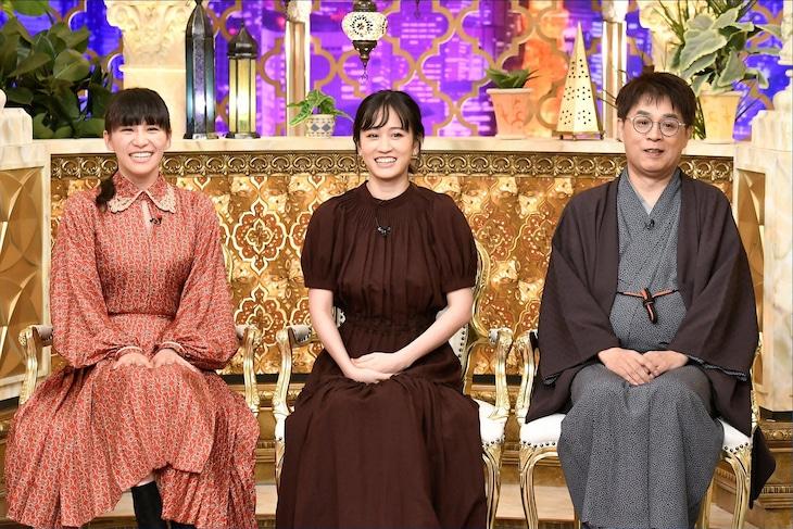 左からあ~ちゃん、前田敦子、立川志らく。(c)TBS