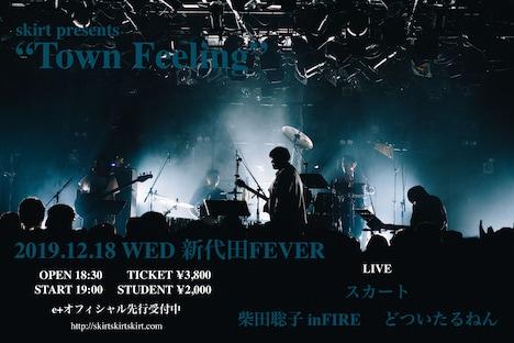 """「スカート presents """"Town Feeling""""」告知ビジュアル"""