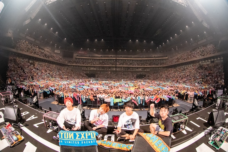 04 Limited Sazabys「YON EXPO」さいたまスーパーアリーナ公演の様子。(Photo by Viola Kam[V'z Twinkle])