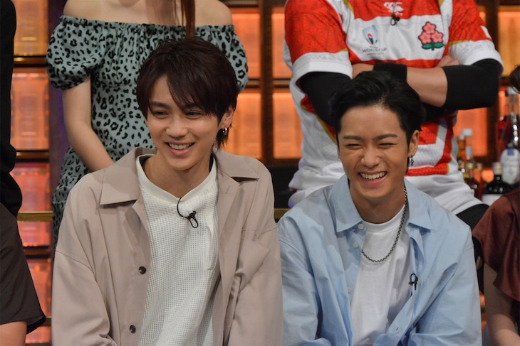 左から吉野北人、川村壱馬。 (c)日本テレビ