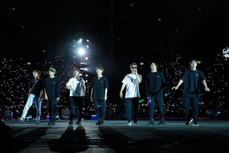 BTS「LOVE YOURSELF: SPEAK YOURSELF」キング・ファハド国際スタジアム公演の様子。(c)Big Hit Entertainment