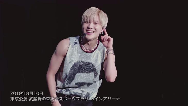 テミン「TAEMIN ARENA TOUR 2019 ~X~」より、「全公演MC」ダイジェスト映像のワンシーン。