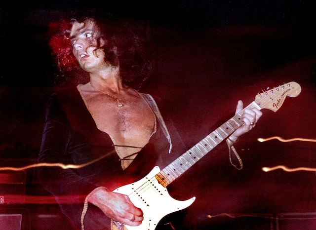 Deep Purple guitarist Ritchie Blackmore performs in an experimental photoin West Palm Beach; Florida on 6/17/73 (c)Larry Singer / Photoshot / Zeta Image