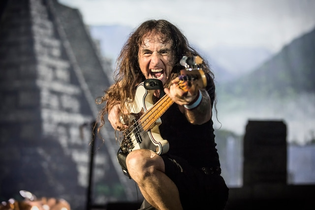Iron Maiden, the English heavy metal band, performs a live concert at Telenor Arenain Oslo. Here bass player Steve Harris is seen live on stage. Norway, 15/06 2016. (c)Terje Dokken / Gonzales Photo / Photoshot / Zeta Image